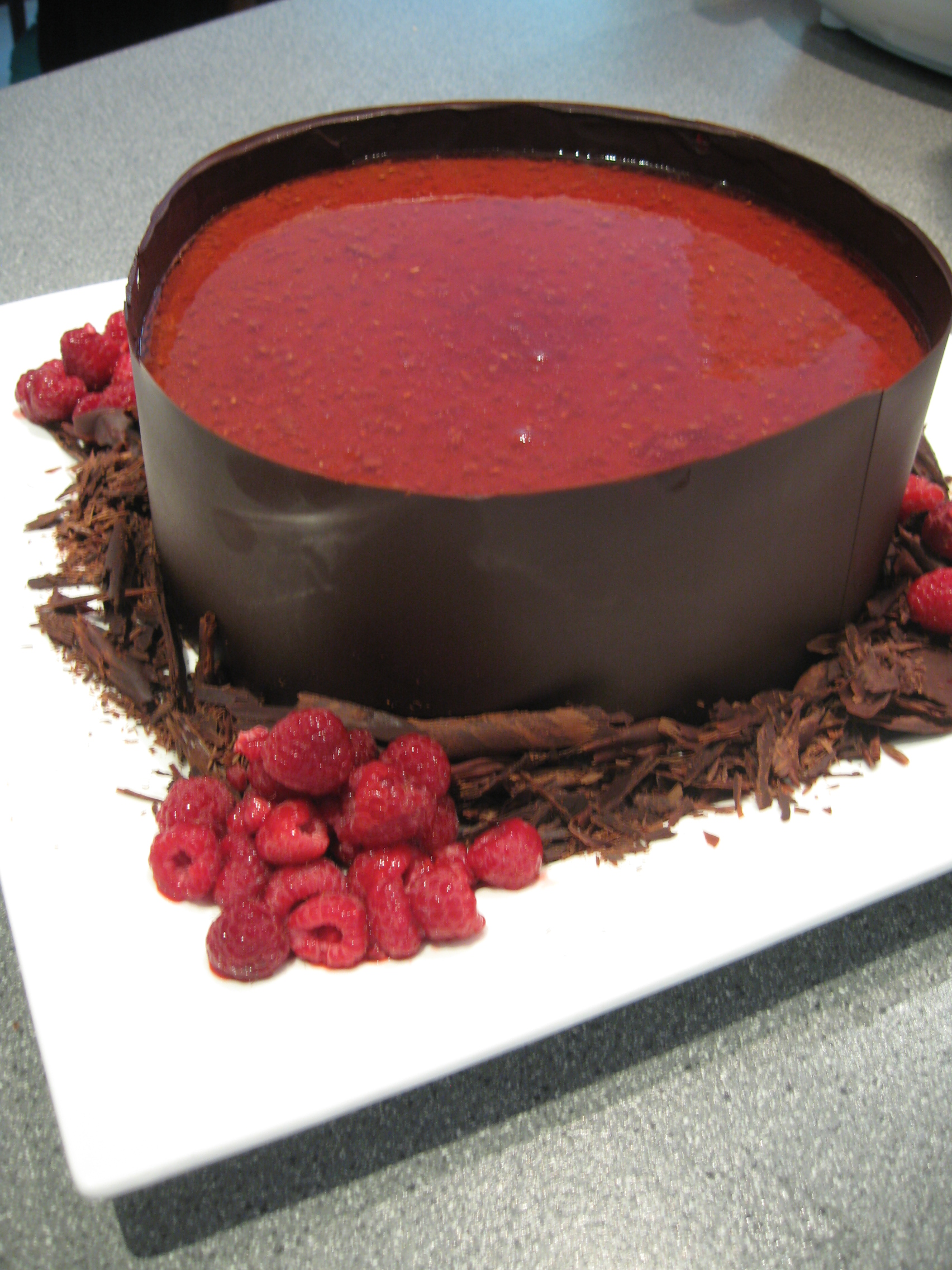 Classic Cake With Raspberry And Chocolate